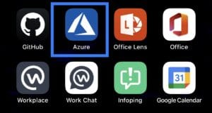 azure mobile app on iphone